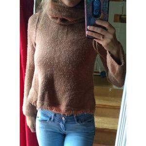 [Anthro] Akemi + Kin Fringe Turtleneck Sweater